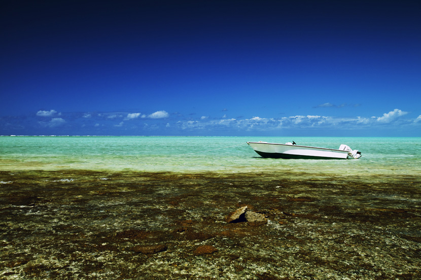 Paul Island in the Indian Ocean, wildest little peace of paradise from Cargados Carajos Shoals, Mauritius