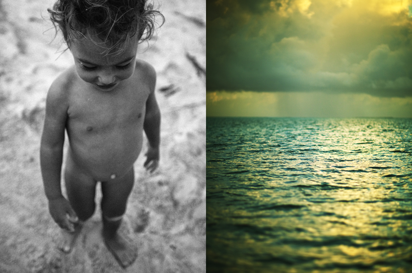 Little girl, Kailua beach, Oahu, Hawaii